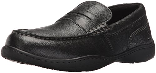 Rockport Men's Rocker Landing Ii Penny Loafer- Black Tumbled-8 W -