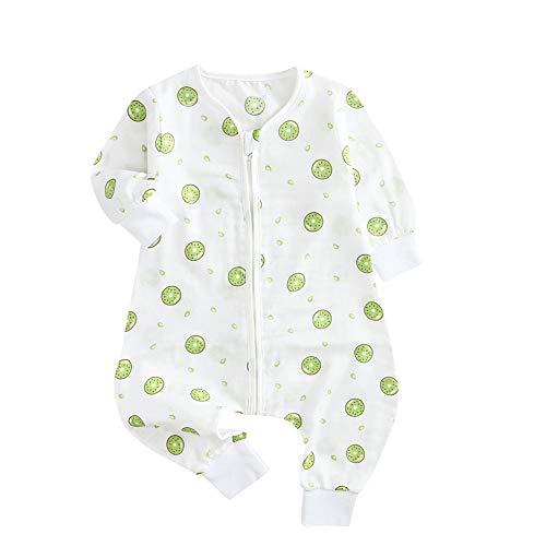 JooNeng Baby Toddler Cotton Sleepsack Multi-Layer Kid Sleep Bag Sleepsuit Wearable Blanket,Kiwis ()