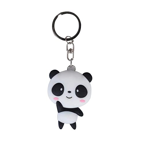 LEEWEE - Cadena de Silicona para Llaves, diseño de Panda con ...