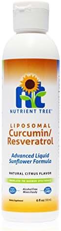 Nutrient Tree Liposomal Curcumin (Turmeric) / Resveratrol – Combines Two Powerful Antioxidants – Alcohol Free – No Soy or Gluten – Made with Micro-Liposomes – Anti-Inflammatory – Non-GMO Sunflower Oil