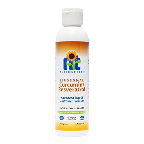 Nutrient Tree Liposomal Curcumin (Turmeric) / Resveratrol - Combines Two Powerful Antioxidants - Alcohol Free - No Soy or Gluten - Made with Micro-Liposomes - Anti-Inflammatory - Non-GMO Sunflower Oil