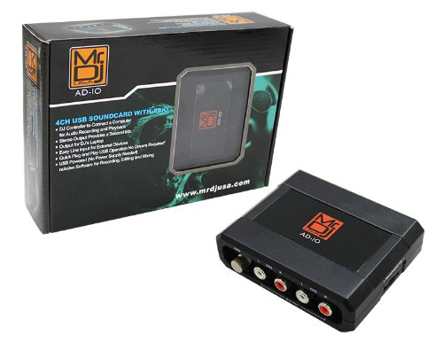Mr. Dj AD-IO 4 Channel USB SoundCard with ASIO
