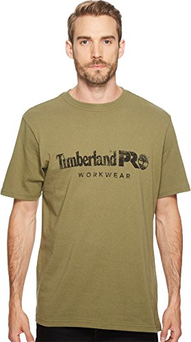 Timberland PRO Men's Cotton Core Short-Sleeve T-Shirt, Burnt Olive, X-Large
