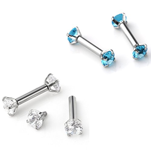 Zysta Stainless Zirconia Cartilage Earrings