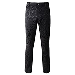 DarcChic Mens Trousers Pants Brocade VTG Gothic Aristocrat Steampunk Side Braiding Trim