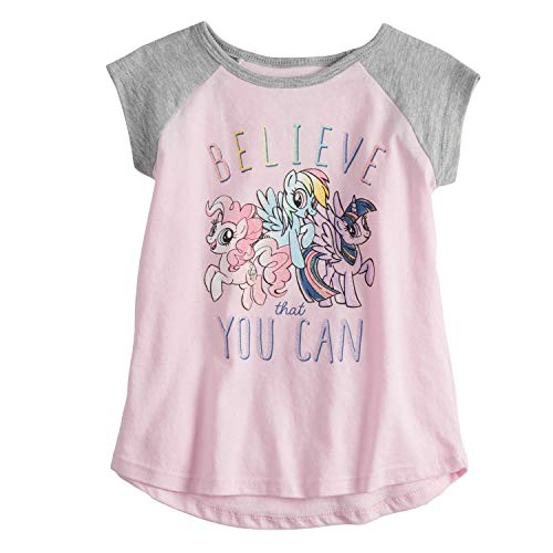 (Jumping Beans Little Girls' Toddler 2T-5T My Little Pony Believe That You Can Tee 5T Light)