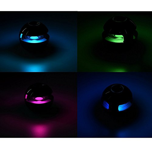 E-3LUE bluetooth speakers with Handsfree Speakerphone,LED lights Built-in Mic and 3.5mm Line-In ,Portable mini wireless speaker for Smartphones, Tablets, Computers, Laptops,Cell Phones,Black by E-3lue (Image #5)
