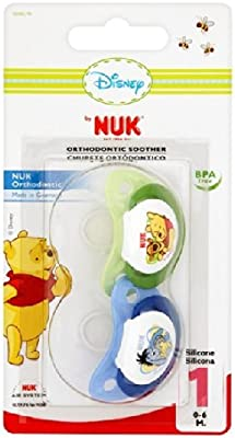 NUK Winnie The Pooh silicona Chupete Tamaño 1 2 por paquete ...
