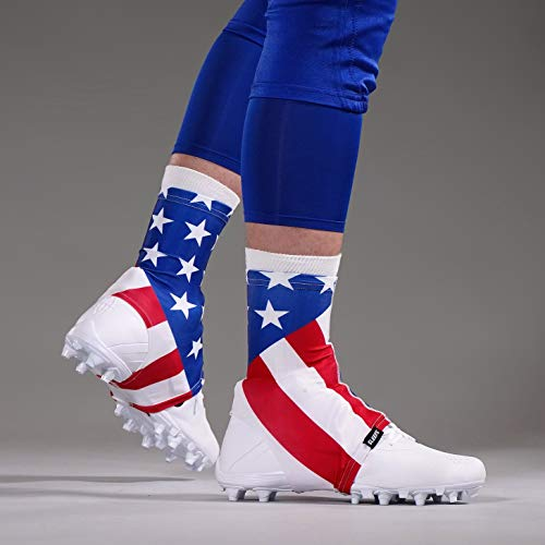 USA American Flag Spats/Cleat Covers (Cam Newton American Flag Cleats For Sale)