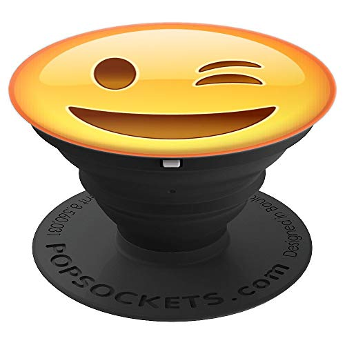 Joy Emoji of Winking Face Laughing Emoticon Best Gift - PopSockets Grip and Stand for Phones and Tablets