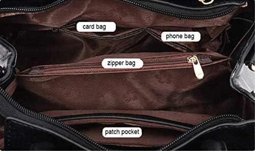ZZXSSacs Sacs à main brodés Sacs Sacs à main en cuir Messenger Sacs pour femmes Sacs à main pour femmes 30x14x22cm noir