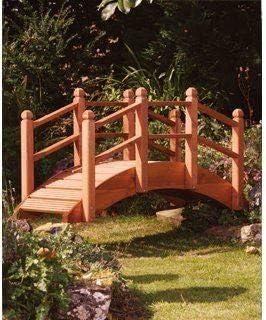 UK-Gardens - Puente decorativo para jardines (extragrande, de teca, 1, 82 m): Amazon.es: Jardín