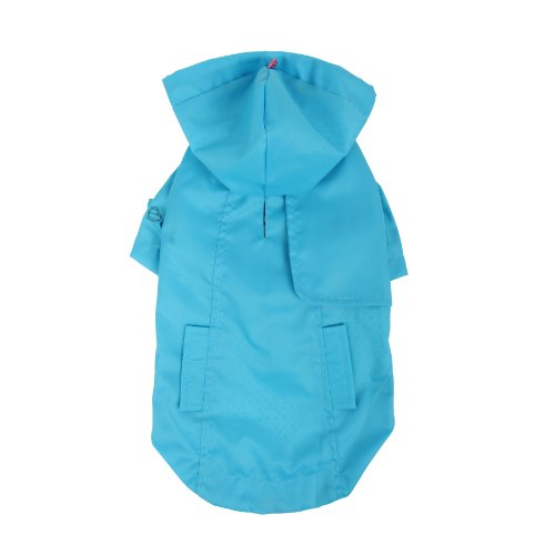 New York Dog Raincoat - Pinkaholic New York Slicker Raincoat for Dogs, Small, Blue