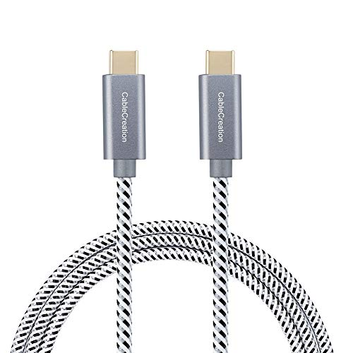 CableCreation USB C to USB C Cable 10ft 60W, Braided USB-C Cable 3A Fast Charging, Compatible with Macbook(Pro), Galaxy S20/S20+/S20 Ultra/S10/S9/S9+, Note 10, Pixel 3XL, etc. Space Gray
