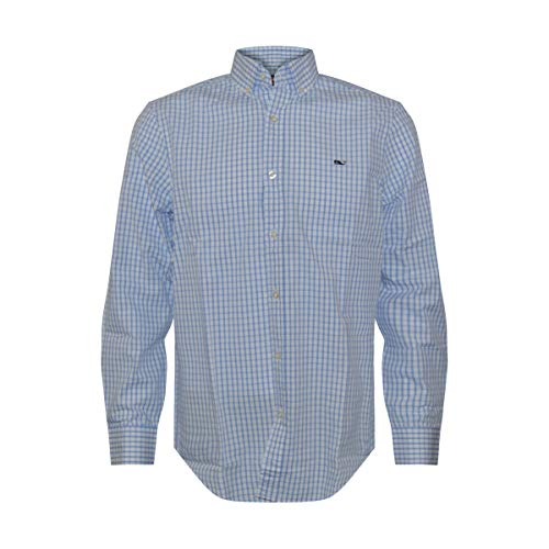Vineyard Vines Men's Classic Fit Whale Shirt (Graph Check/Marine, XX-Large)