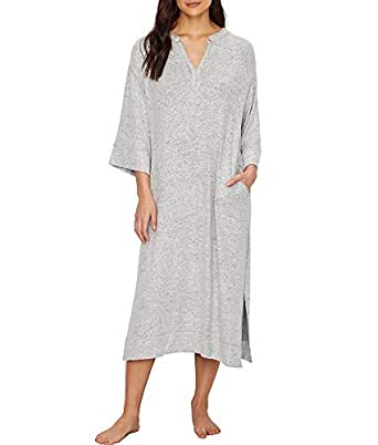 Donna Karan Sweater Jersey Night Gown, S, Winter White at