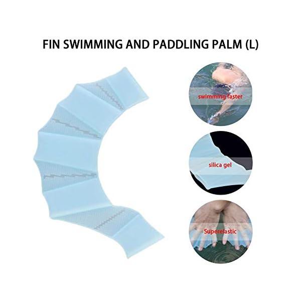 laonBonnie Pinne da Nuoto in Silicone Flippers Palm Finger Nuoto Guanti Paddel Migliorare Resistente Guanti da Nuoto… 3 spesavip