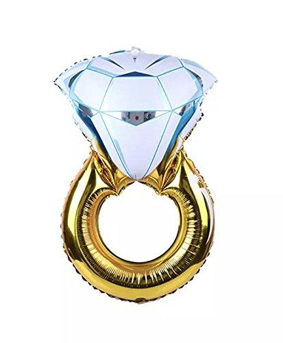 CharmTM Huge 30 Engagement Diamond Ring Balloon Wedding Proposal Party Decoration Bride Bachelorette