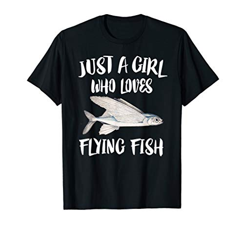 T-shirt Flying Fish - Just A Girl Who Loves Flying Fish Gift T-Shirt