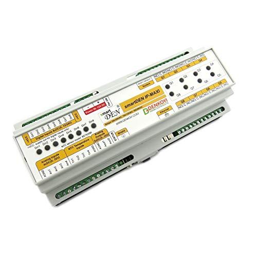(Denkovi Assembly Electronics Ltd smartDEN Maxi - I/O Relay Module SNMP, HTTP with DIN Rail Box 12V)