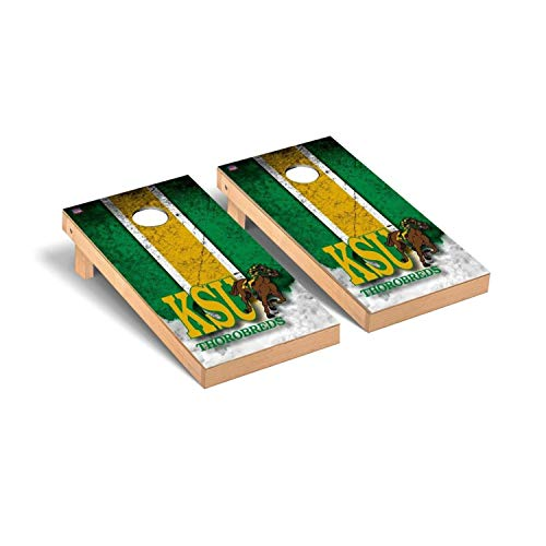 Victory Tailgate Regulation Collegiate NCAA Vintage Series Cornhole Board Set - 2 Boards, 8 Bags - Kentucky State Thorobreds