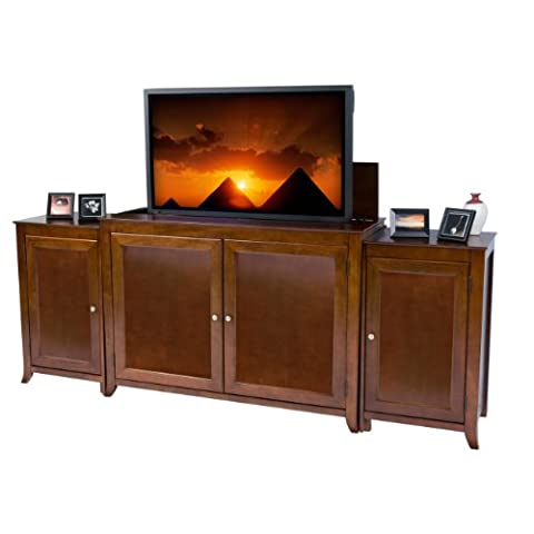 Berkeley Tv Lift Cabinet with Side Media Cabinets for Flat Screen Tv's up to 55