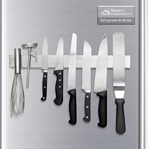 Modern Innovations 16 Inch Stainless Steel Magnetic Knife Bar for Refrigerator with Multipurpose Use as Wall Mount Knife Holder, Knife Rack, Kitchen Utensil Holder, Magnetic Tool Holder Strip (Cheap Side By Side Stainless Steel Refrigerators)