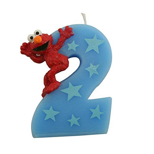 Sesame Street Elmo Number 2 Birthday Cake Candle By Bakery