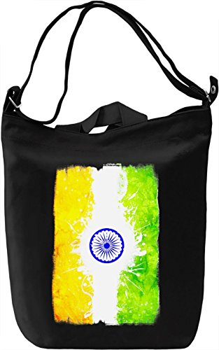 India Flag Borsa Giornaliera Canvas Canvas Day Bag| 100% Premium Cotton Canvas| DTG Printing|