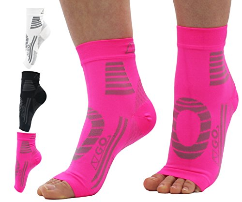 Top AZGO Plantar Fasciitis Socks by, Medical Compression Sleeve for Men and Women | Ankle & Arch Support, Heel Pain Relief Treatment, Day & Night Use | Ideal for Runners, Nurses or During Pregnancy free shipping