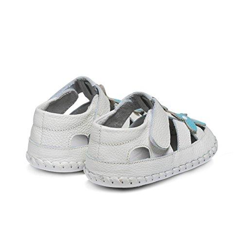 Little Blue Lamb Babyschuhe Lauflernschuhe Sandalen 35613 weiß türkis, Größe: 6-12 Monate, Farbe: weiß türkis weiß türkis