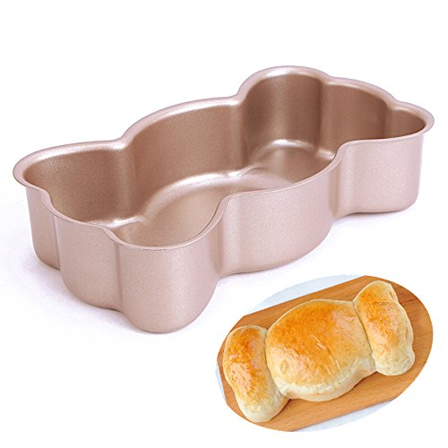 Forvel Non-Stick Metallic Manly Bow Tie Pastry Tart Pan Baking Mold Tin - Easy Home Bowtie Bread / Cake Maker