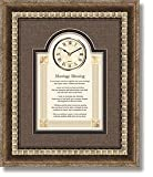 General Sentiments Framed Wall Clocks Marriage Blessing 15'' W X 18'' H