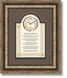 General Sentiments Framed Wall Clocks Marriage Blessing 15'' W X 18'' H by heartfelt