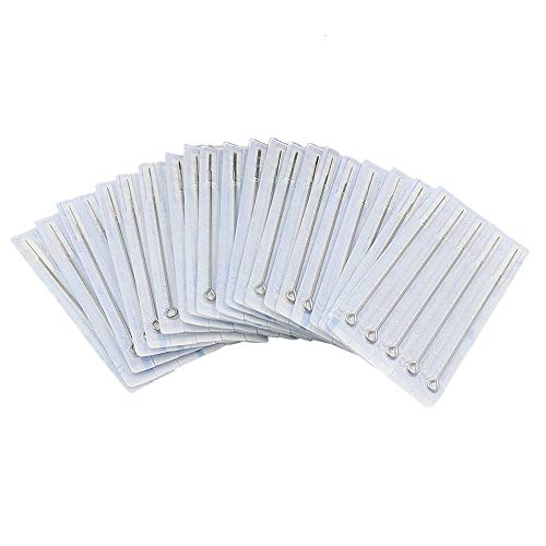 Tattoo Needles Set - Yuelong 50PCS Disposable Sterile Tattoo Needles Assorted Liners and Shaders 3rl, 5rl, 7rl, 9rl, 3rs, 5rs, 7rs, 9rs, 5m1, 7m1, For Tattoo Machine,Tattoo Kit and Tattoo Supplies