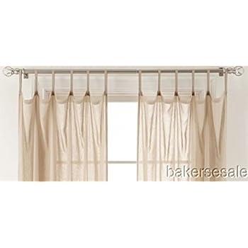 Martha Window Flutter Skinny Tab-Top Sheer Curtain Panel 50 X 84 Cool White