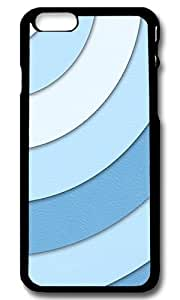Rugged iPhone 6 Case,Blue Swirls Custom Case Cover for Apple iPhone 6 4.7inch Polycarbonate Black
