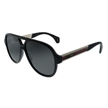 Gafas de Sol Gucci GG0463S Black/Grey Green Hombre ...