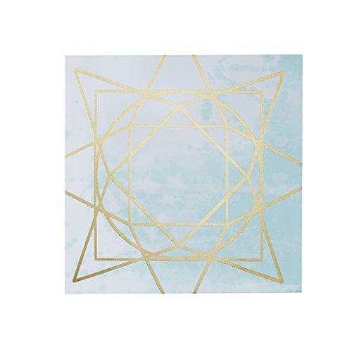 Madison Park Arctic Geometric Abstract Blue White Canvas Wall Art 19.5X19.5 2 Piece Multi Panel, Contemporary Modern Wall Décor