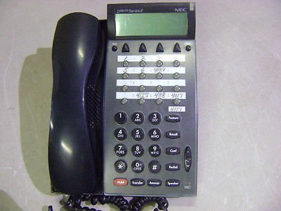 Nec Dterm Series Ii Euro Black Lcd Display 16 Button Phone Telephone Dtp-16D-1 ()