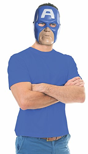 Rubie's Costume Co Unisex-Adults Ben Cooper Captain America Mask, Multi, One Size -