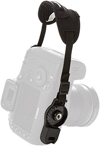 AmazonBasics Padded Camera Hand Strap - 5.3 x 2 x 1 Inches, Black ()