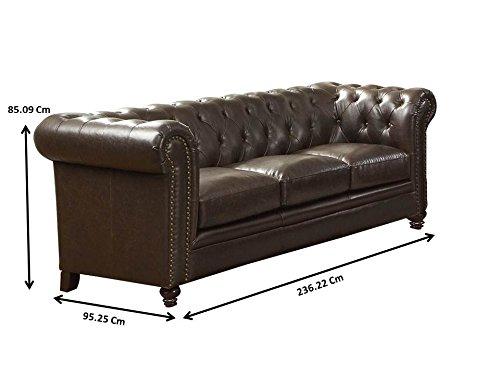 Coaster Home Furnishings Sofa, Black/Dark Brown