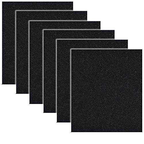 (6 Pack Black Charcoal Cat Litter Box Replacement Filter Hooded Cat Litter Boxes Pans Carbon Odor)