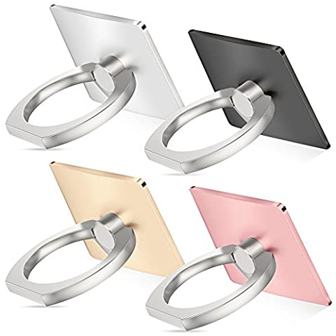 Cell phone holder, 4 Pack SENHAI Universal Smartphone Ring Grip Stand Car Mounts for Iphone, Ipad, Samsung HTC Nokia Smartphones, (Cell Phone Accessories)