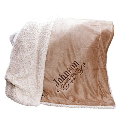 GiftsForYouNow Embroidered Personalized Sherpa Blanket - 50