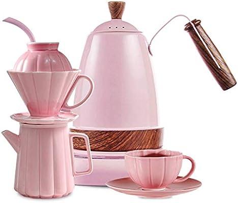 Atten Prensa Cafetera eléctrica Conjunto, de cerámica Cafetera de ...