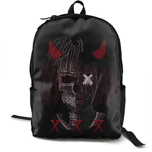 DKFDS Backpacks Xxxtentacion Unisex Adult Student Schoolbags Zipper Teen Girl Boys Bookbag Book Bag Backpack ypack for Office Traval]()