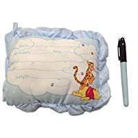 8 Inch Winnie The Pooh Birth Announcement Door Pillow With Pen in Blue/Baby B...