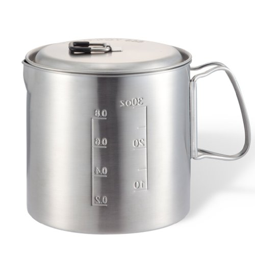 Solo Pot 900: Lightweight Stainless Steel Backpacking Pot for Solo Stove and Other Backpacking & Camping Stoves (Solo Stove Backpacking Stove compare prices)